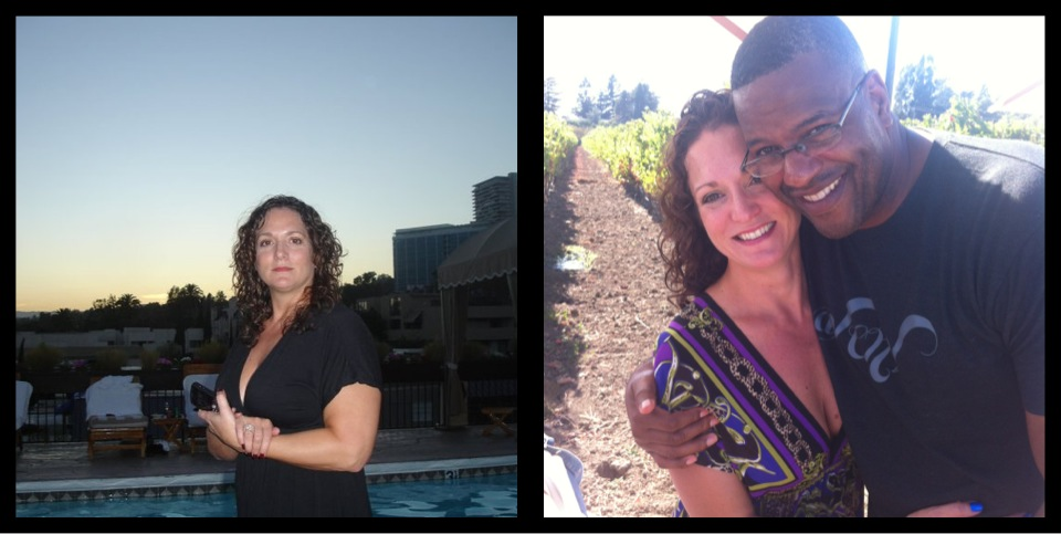 April 2012, and me in Sept 2012 10lbs shy of goal-building my influential self.