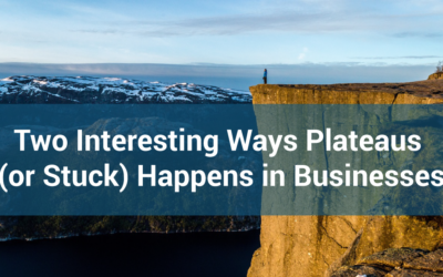 Two Interesting Ways Plateaus (or Stuck) Happens in Businesses