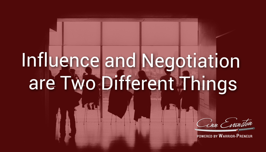 Influence and Negotiation are Two Different Things
